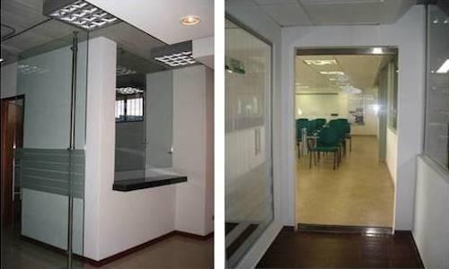 Oficinas en Drywall. Muros en Drywall.
